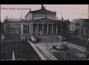 Ansichtskarte Königliches Schauspielhaus BERLIN 3.11.1915, Feldpost nach Breyell