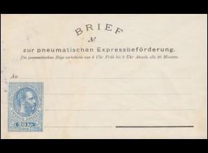 Österreich Rohrpost-Umschlag RU 4 Schönbrunnerstr. 42, ungebraucht **