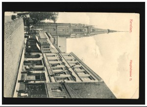 Belgien Postkarte P 1 aus NAMUR (BELGIEN) 29.10.1914 nach Wiesbaden
