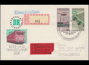 U 3 Eisenbahn mit Not-R-Zettel (Ortsangabe fehlt) Eil-R-Bf. SSt BERLIN 11.10.85