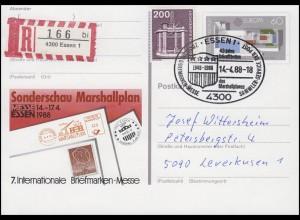 PSo 16 Messe Essen & Europa, R-FDC ESSt Essen 40 Jahre Marshallplan 14.4.1988