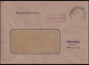 Gebühr-bezahlt-Stempel Fenster-Bf. Betriebskrankenkasse LUDWIGSHAFEN 27.11.47