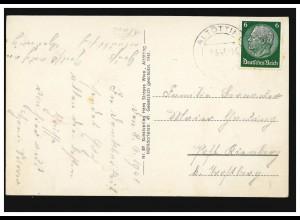 Ansichtskarte Oberhausen Postamt als Feldpost, OSTERFELD (WESTF.) 17.6.1917