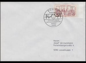 1447 UNSECO-Weltkulturerbe Altstadt Lübeck, EF FDC ESSt Bonn UNESCO 12.1.1990