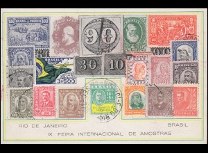 Brasilien: Sonderpostkarte 9. Briefmarkenausstellung Rio de Janeiro 11.11.1936