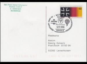 1266 Bundeswehr Postkarte SSt Merzig Luftlande-Versorgungskompanie 2.11.1996
