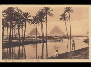Ansichtskarte Ägypten: Die Pyramiden von Gizeh, CAIRO 31.5.1930