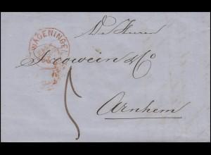 Niederlande Dienstbrief WAGENINGEN nach ARNHEIM 2.5.1862