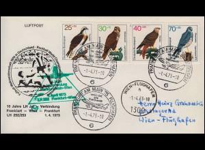 Mit Luftpost befördert Frankfurt (Main) 2 Flughafen England-Brief LONDON 8.10.32