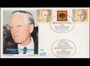 1628 Schmuck- und Uhrenindustrie, MeF NN-FDC ESSt Bonn Taschenuhr 10.9.1992