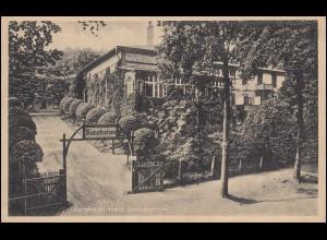 Ansichtskarte Sanatorium GERNRODE (HARZ) 12.2.45 als Feldpost