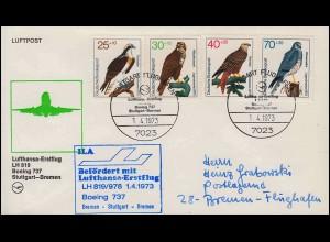 19 Brustschild 1 Gr. EF Brief mit Rahmenstempel TELTOW 29.6. nach Köpenick 30.6.