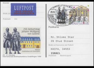 PSo 62 Sindelfingen Goethe SSt Sindelfingen Goethe Schiller 29.10.99 nach Israel