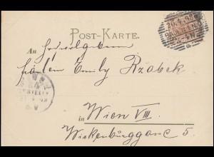 Künstlerpostkarte Auf gute Freundschaft! Rost-O BADEN 20.4.1898 nach WIEN 31.4.
