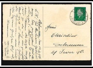 Paketkarte mit Lettland Nr. 90+97+98+99+104 aus RIGA 23.3.1926 in die Schweiz