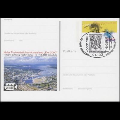 PSo 67 Ausstellung KIEL 2000 & EXPO, SSt Kiel Wappen Schleswig-Holstein 6.5.2000