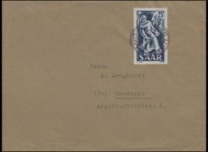284 Eisen- und Stahlindustrie EF auf Brief METTLACH 3.12.1949 nach Hannover