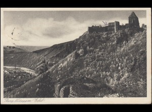 Ansichtskarte Burg Nideggen (Eifel), BRÜCK 11.6.1927 nach Breyell
