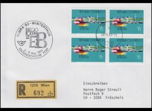 Österreich 2096 Euregio Bodensee MeF R-Bf Wien 25.5.94 & Winterthur-WIBRA-SSt
