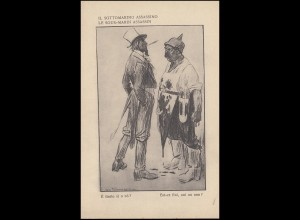 Italienische Propagandakarte 1. Weltkrieg: IL SOTTOMARINO ASSASSINO, ungebraucht