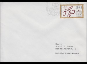 1612 Adam Riese, EF Brief Annaberg-Buchholz Adam Ries Festwoche Juli 1992