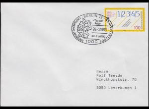 1659 Neue Postleitzahlen EF Bf SSt Berlin PLZ 0 bis 9 & Tag der Post 26.3.1993