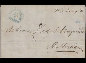 Niederlande Vorphilatelie Brief AMSTERDAM 11.6. FRANCO nach ROTTERDAM 12.6.1846