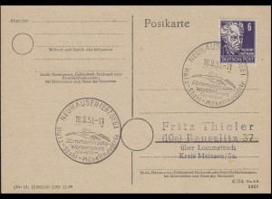 213 Gerhard Hauptmann, PK SSt Neuhausen/Erzgebirge Holz - Stuhl - Möbel 18.9.51