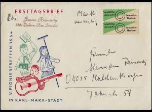 Bahnpost 101 Germania 15 Pf EF Brief HAGEN-CASSEL ZUG 617 - 21.7.18 nach Warburg