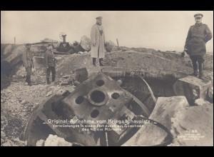 AK Verwüstungen in einem Fort durch ein Geschoss des 42 cm Mörsers, ungebraucht