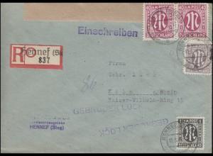 AM-Post-MiF R-Brief Not-R-Zettel HENNEF (SIEG) 1 -11.5.46 nach Köln 13.5.46