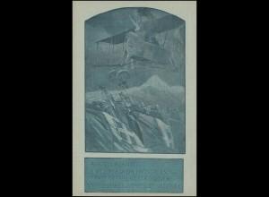 Italenische Blaubild-AK Propaganda: Schneller zum Sieg! 1918 ungebraucht
