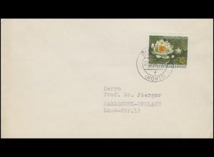 274 Naturschutz: Seerode 10 Pf EF Drucksache Lorsch 21.12.57 nach Karlsruhe
