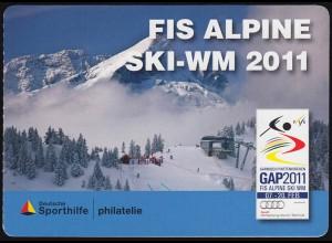 Sporthilfe: FIS Alpine Ski-WM 2011 Rosi Mittermaier MH selbstklebend **
