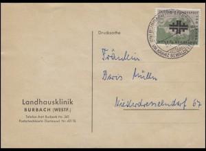 292 Deutsche Turnbewegung EF Postkarte Landhausklinik SSt Burbach Kurort 31.7.58