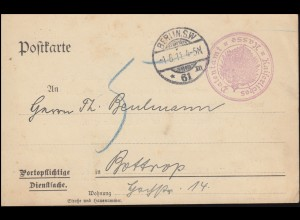 Portopflichtige Dienstsache Kaiserliches Patentamt Kasse Postkarte BERLIN 1.6.11