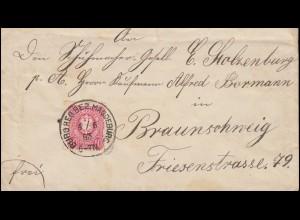 280 Eichendorff Dichter, EF auf Orts-Brief Kassel 11.7.58