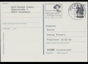 P 157 Goethejahr 1999 Weltbürger Goethe - Weltoffenes Frankfurt, BZ 60 - 4.1.99