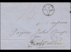 Vorphilatelie Schweiz Einkreis LOCARNO 8.10.1862 über AARAU nach WOHLEN 10.10.62