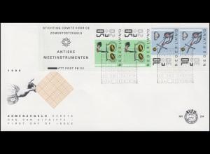 Niederlande Heftchenblatt 33 PB 32 Alte Messinstrumente, Schmuck-FDC 8.4.86