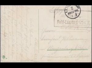 Feldpost BS Feld-Lazarett No.1. des VII. Armee-Korps 1.3.1915 auf Militär-AK