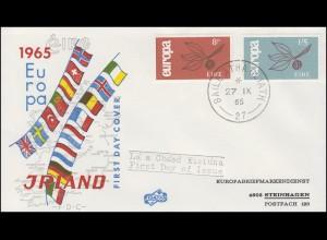 Irland 176-177 Europa / CEPT 1966 - Satz auf Schmuck-FDC