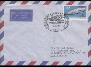 1525 Zeppelin, EF Bf SSt Essen LZ 8 DEUTSCHLAND & Codierungen orange + gelb E 45