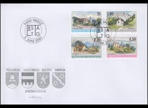 Liechtenstein 1262-1255 Dorfansichten, kompletter Satz auf Schmuck-FDC 5.6.2001