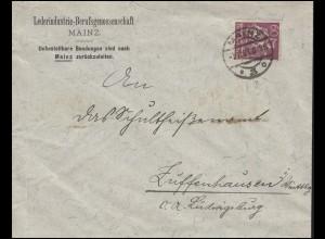 165 Freimarke Schmied 60 Pf EF Bf Lederindustrie-Berufsgenosschaft MAINZ 7.11.21