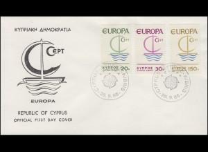 Zypern 270-272 Europa / CEPT 1966 - Satz auf Schmuck-FDC
