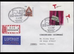 1857 Bühnenverein, MiF R-Bf SSt Herzogenrath Theater Pferd 5.4.1997 nach Israel