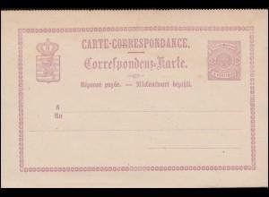 Luxemburg Postkarte P 6 Wappen im Kreis Doppelkarte 6/6 C., ungebraucht **