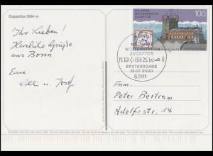 2127 Wetterstation Zugspitze EF FDC-Ansichtskarte Zugspitze ESSt Bonn 13.7.2000