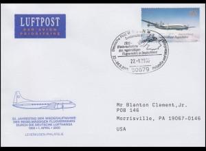 2450 Lufthansa, EF Brief SSt Köln Wiederaufnahme des Flugverkehrs 22.9.2005